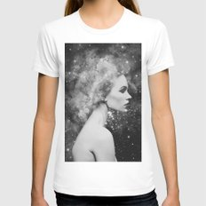 Head in the stars Womens Fitted Tee White MEDIUM