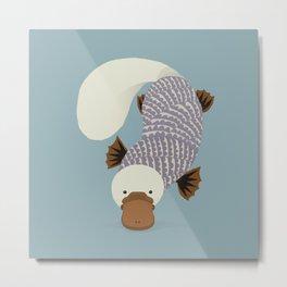 Whimsical Platypus Metal Print