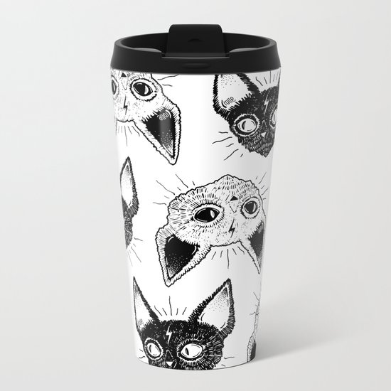 Kittens  Metal Travel Mug