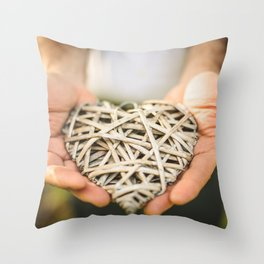 st. valentine heart shape for charity Throw Pillow