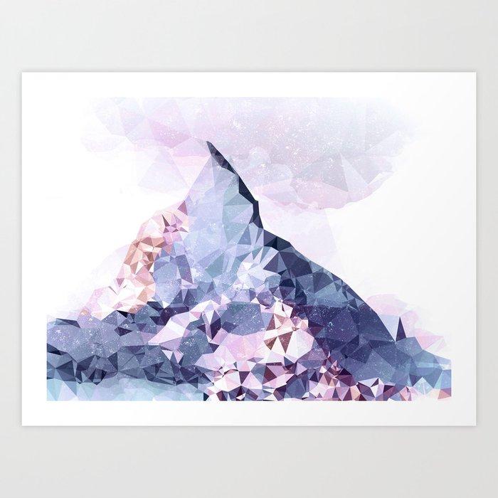 The Crystal Peak Art Print