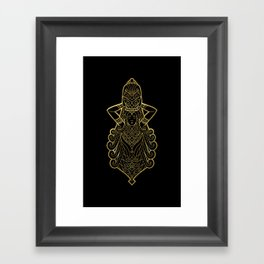 Aquarius Gold Framed Art Print
