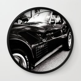 Black Chevrolet Corvette Stingray Car Wall Clock