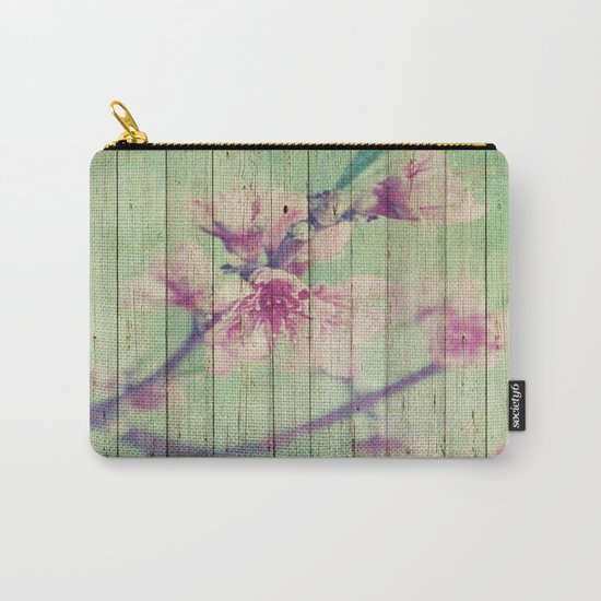 Sweet Flowers on Wood 05 Carry-All Pouch