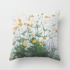 Yellow + Purple Throw Pillow