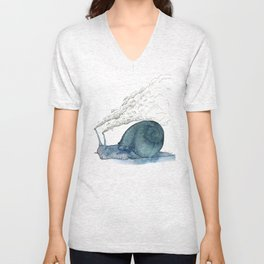 Escargot fumant Unisex V-Neck