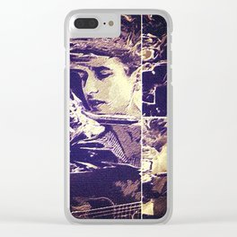 Bob Dylan: A Hard Rain's a Gonna Fall Clear iPhone Case