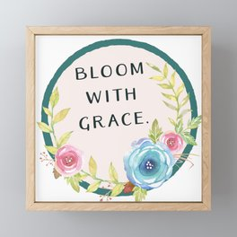 Bloom with Grace Framed Mini Art Print