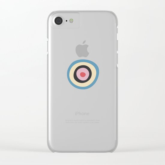 Colorful Circles VI Clear iPhone Case