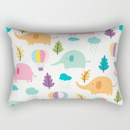 Cute Elephant Rectangular Pillow