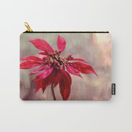 Poinsettia Painting Carry-All Pouch