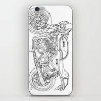 cafe racer iPhone & iPod Skins featuring NORTON COMMANDO 961 CAFE RACER 2011 by Larsson Stevensem
