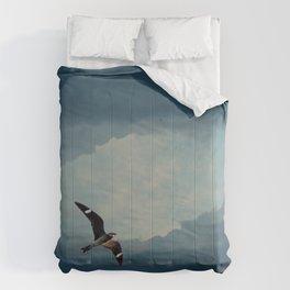 Nighthawk Day Flight Comforters