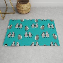 Baby Penguins #penguins #penguins art Rug