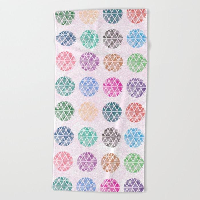 Colorful Geometric II Beach Towel