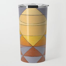 Pyramid Sun Mauve Purple Travel Mug