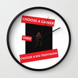 Trainspotting Quotes Wall Clock