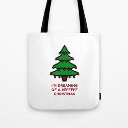 #FFFFFF Christmas Tote Bag