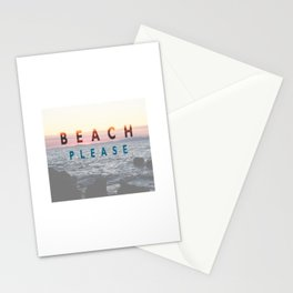 BEACH PLEASE Stationery Cards