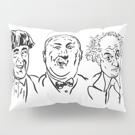 Stooges Moe, Curly and Larry Pillow Sham