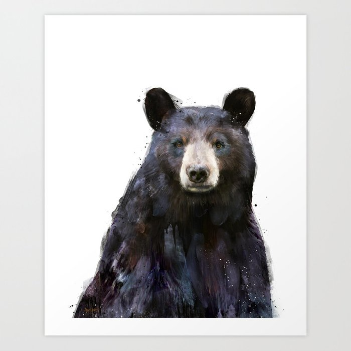 Discover the motif BLACK BEAR by Amy Hamilton as a print at TOPPOSTER