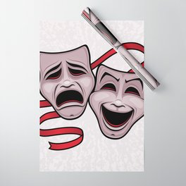 Comedy And Tragedy Theater Masks Wrapping Paper