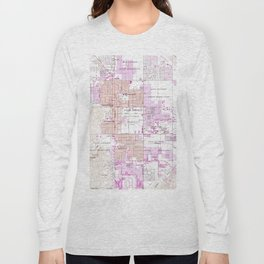 Vintage Map of Palm Springs California (1957) 2 Long Sleeve T-shirt