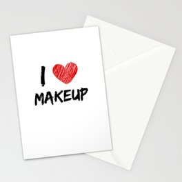 I Love Makeup Stationery Cards