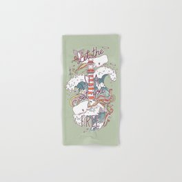 Whales and Waves Hand & Bath Towel