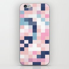 Map Blush And Blue iPhone Skin