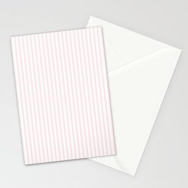Light Millennial Pink Pastel Color Mattress Ticking Stripes Stationery Cards