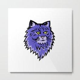 Siberian Forest Cat Mascot Metal Print