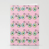 bicycles Stationery Cards featuring bicycles by Molly Gilholm