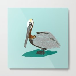 Mr. Pelican Metal Print