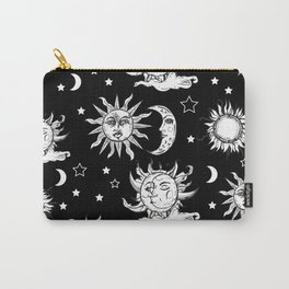 Sun and Moon Celestial Pattern Carry-All Pouch