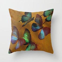 Butterflies In Exquisite Flight Throw Pillow