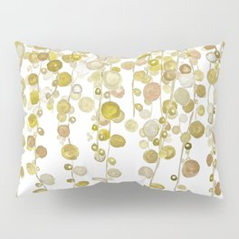 golden string of pearls watercolor 2 Pillow Sham