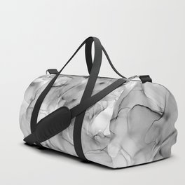 Black and White Marble Ink Abstract Painting Duffle Bag