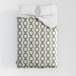 Retro-Delight - Conjoined Circles - Mint Comforters