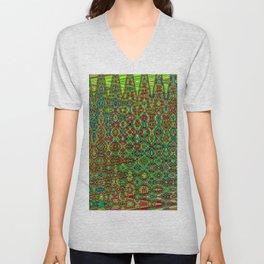 Mosaic Abstract Unisex V-Neck