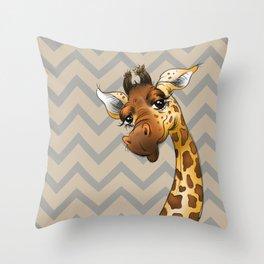 Chevron Giraffe! Throw Pillow