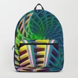 Warping Yellow Backpack