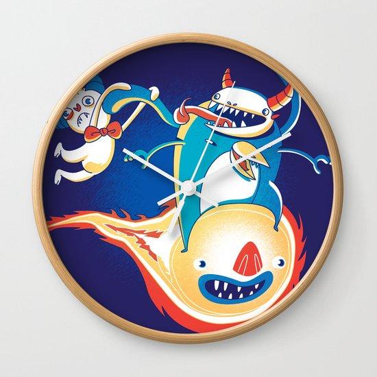 Monsteroid! Wall Clock