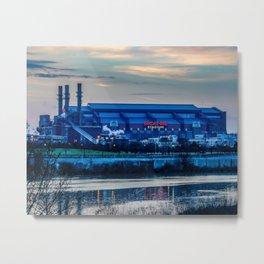 Indy's Lucas Oil Stadium Near the White River Metal Print