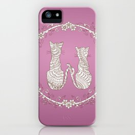 lovely cats iPhone Case