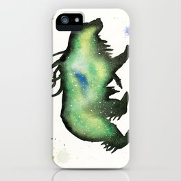 Green Nebula Bear iPhone Case
