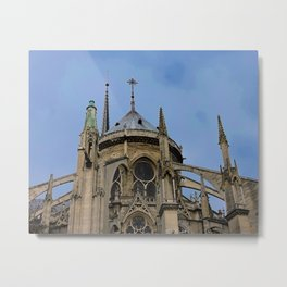 Flying Buttresses Notre Dame Cathedral Paris France Metal Print