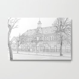Bar Continental Metal Print
