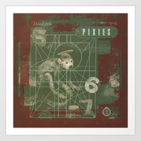 pixies Art Prints featuring Pixies - Doolittle by NICEALB