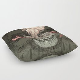 Red Fish and Smokey Skull Floor Pillow